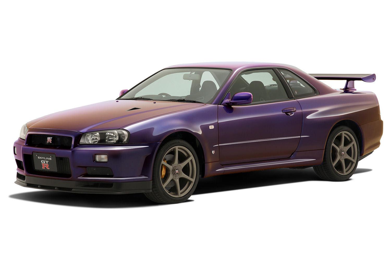 Aoshima 1/32 Nissan R34 Skyline GT-R (Midnight Purple III)