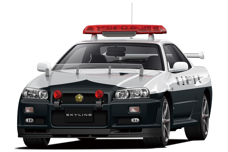 Aoshima 1/24 Nissan BNR34 Skyline GT-R Patrol Car 99