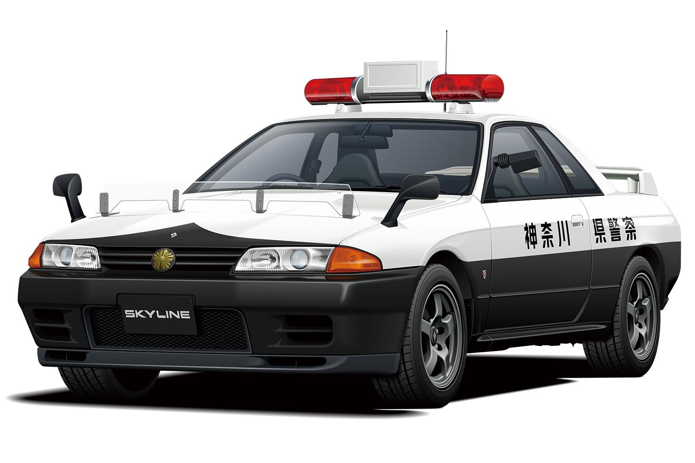 Aoshima 1/24 Nissan BNR32 Skyline GT-R Patrol Car '91
