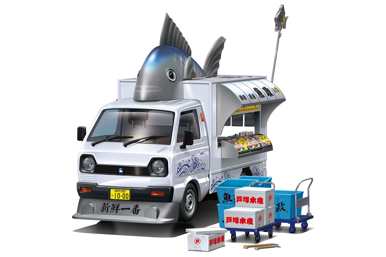 Aoshima 1/24 Catering Machines #01 Fish Paradise
