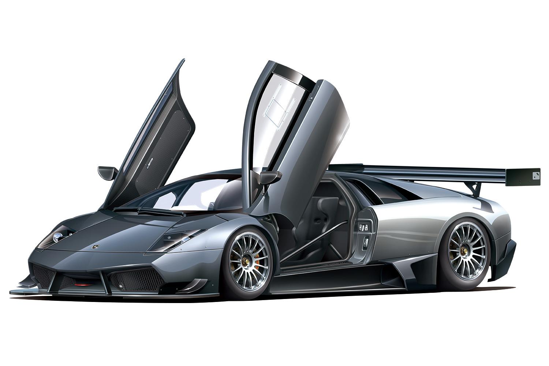 Aoshima 1/24 '10 Lamborghini Murcielago R-SV