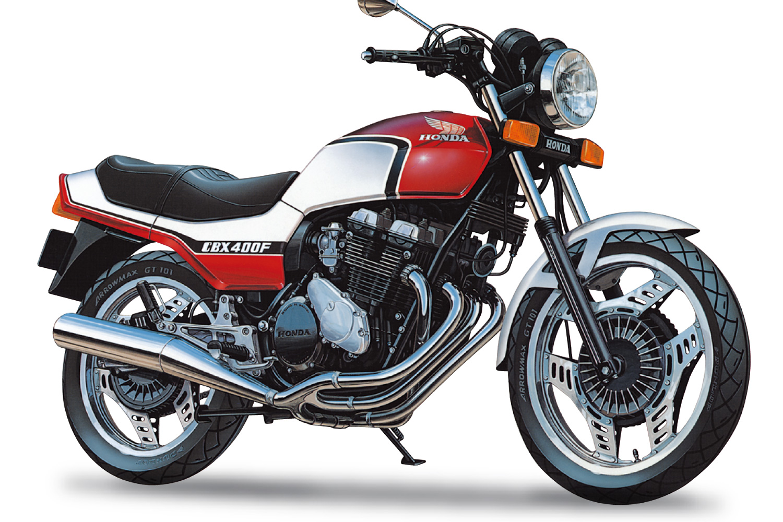 Aoshima 1/12 Honda NC07 CBX400F Candy Pearl Maui Red/Pearl Shell White '81