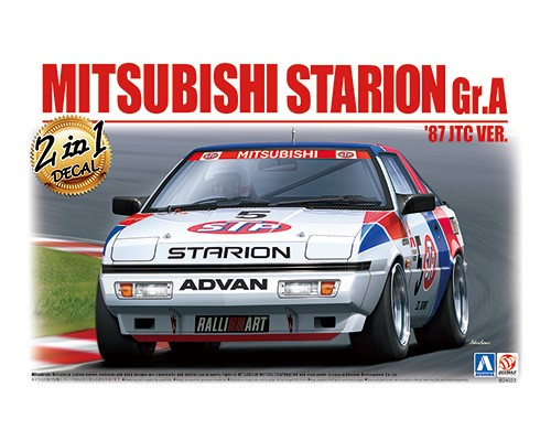 Aoshima Beemax 1/24 MITSUBISHI STARION Gr.A '87 JTC Ver.
