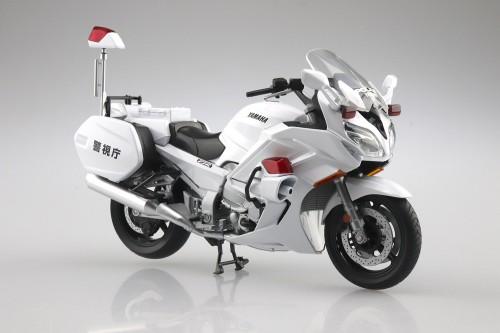 Aoshima 1/12 Yamaha FJR1300P Police Motorcycle (Metropolitan Police Department) Diecast Motorcycle