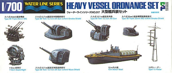Aoshima 1/700 HEAVY VESSEL ORDNANCE SET