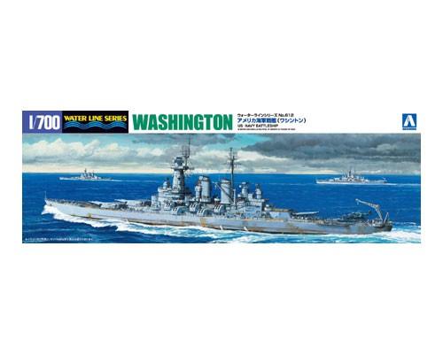 Aoshima 1/700 US NAVY BATTLESHIP WASHINGTON