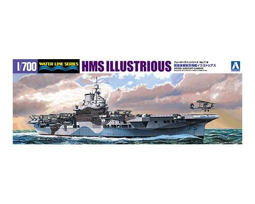Aoshima 1/700 BRITISH AIRCRAFT CARRIER HMS ILLUSTRIOUS