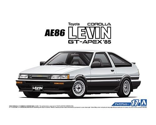 Aoshima 1/24 TOYOTA AE86 COROLLA LEVIN GT-APEX '85