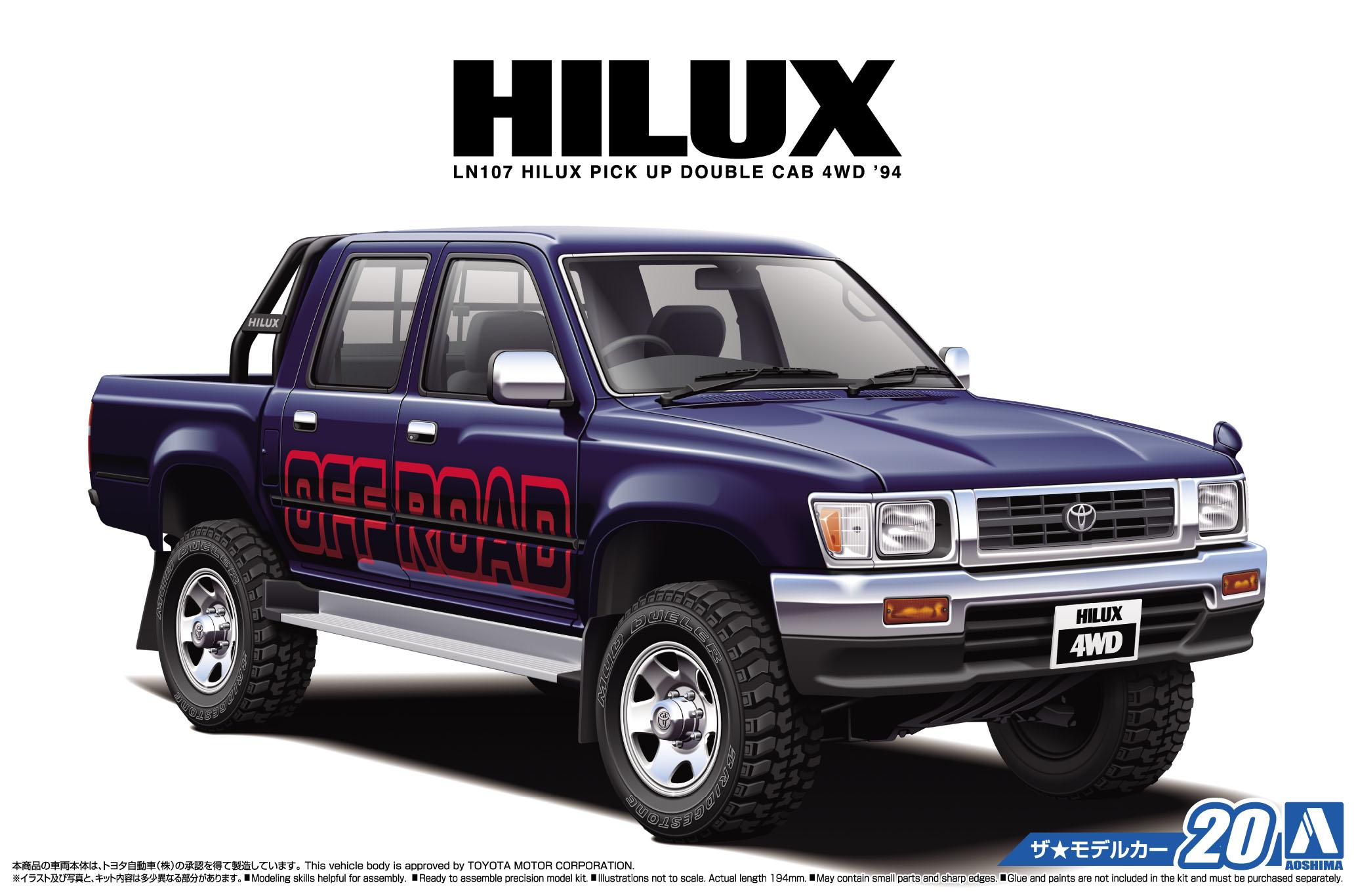 Aoshima 1/24 TOYOTA LN107 HILUX PICK UP DOUBLE CAB 4WD '94