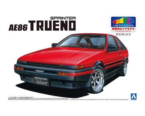 Aoshima 1/24 TOYOTA AE86 TRUENO '83 (RED/BLACK)