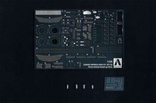 Aoshima 1/24 SUBARU GRB IMPREZA '07/'10 Common Detail Up Parts/Metal Seal Accessories