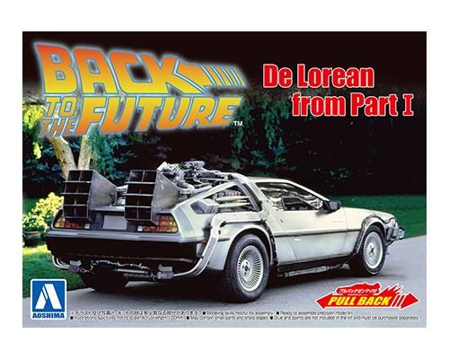 Aoshima BACK TO THE FUTURE 1/43 Pullback DELOREAN from PART I