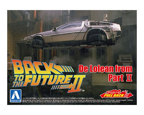 Aoshima BACK TO THE FUTURE 1/43 Pullback DELOREAN from PART 2
