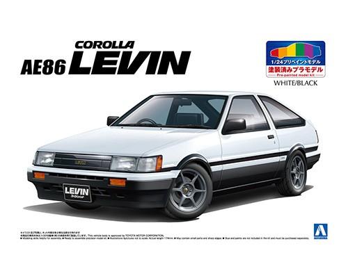 Aoshima 1/24 TOYOTA AE86 LEVIN '83 (WHITE/BLACK)