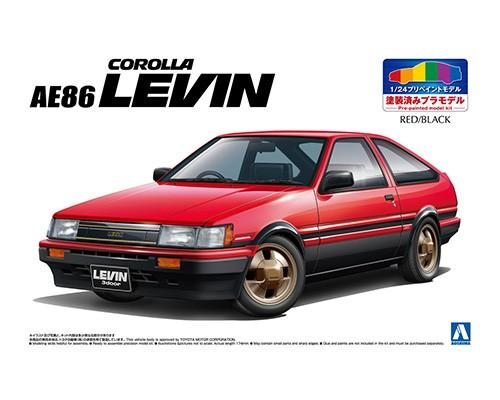 Aoshima 1/24 TOYOTA AE86 LEVIN '83 ?RED/BLACK?