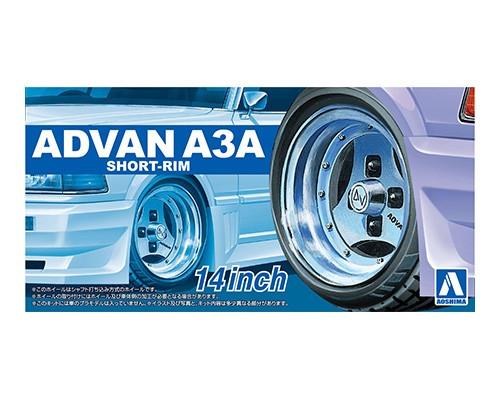 Aoshima 1/24 ADVAN A3A SHORT-RIM 14inch