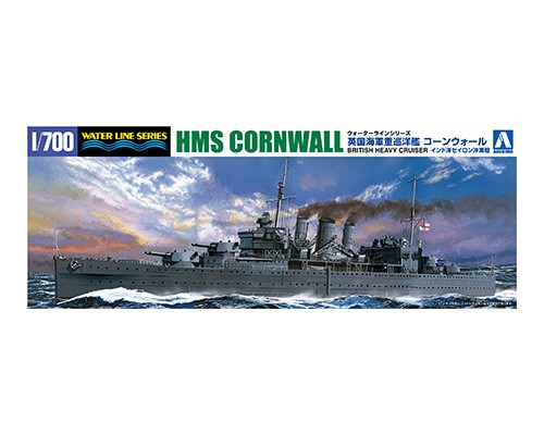 Aoshima 1/700 BRITISH HEAVY CRUISER CORNWALL  BATTLE OF CYRON SEA