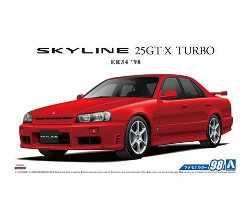 Aoshima 1/24 NISSAN ER34 SKYLINE 25GT-X TURBO '98