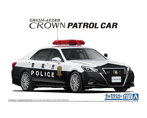 Aoshima 1/24 TOYOTA GRS214 CROWN PATROL CAR FOR TRAFFIC CONTROL '16