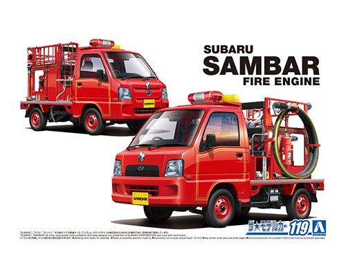 Aoshima 1/24 SUBARU TT2 SAMBAR THE FIRE ENGINE '11
