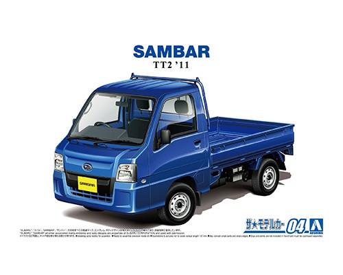 Aoshima 1/24 SUBARU TT2 SAMBAR WR BLUE LIMITED '11