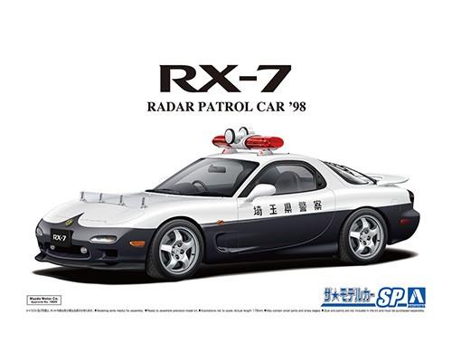 Aoshima 1/24 MAZDA FD3S RX-7 RADAR PATROL CAR 98
