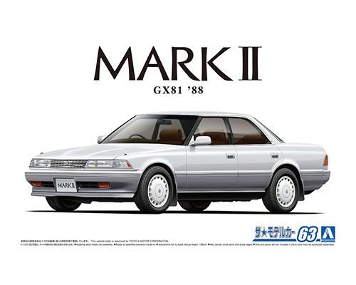 Aoshima 1/24 TOYOTA GX81 MARK2 2.0Grande TWINCAM24 '88