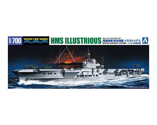 Aoshima 1/700  BRITISH AIRCRAFT CARRIER HMS ILLUSTRIOUS ATTACK OF BENGHAZI