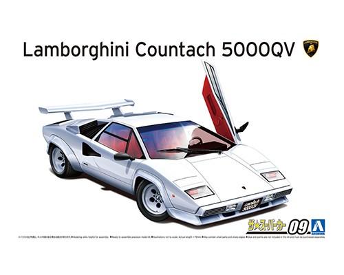 Aoshima 1/24 '85 LAMBORGHINI Countach 5000QV