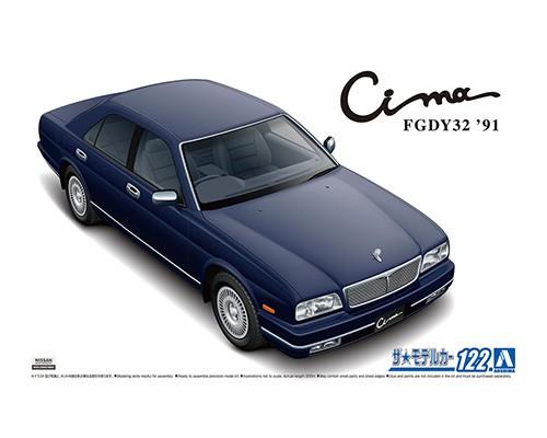 Aoshima 1/24 Nissan Y32 Cima Type Limited L AV 91