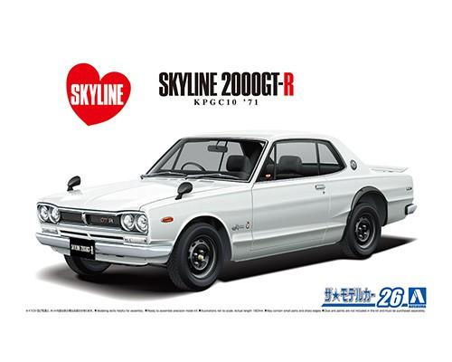 Aoshima 1/24 Nissan KPGC10 Skyline HT2000GT-R 71