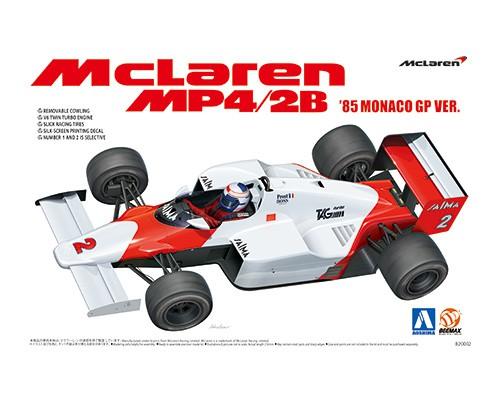 Aoshima Beemax 1/20 McLaren MP4/2B '85 MONACO GP Ver.