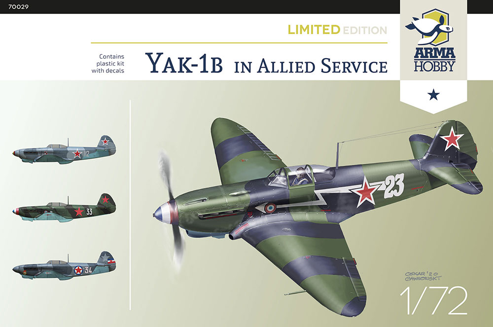 Arma Hobby Yak-1b Allied Fighter Limited Edition