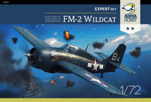 Arma Hobby 1/72 FM-2 Wildcat, Expert Set