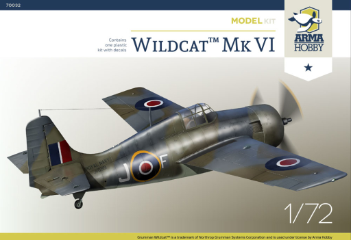 Arma Hobby WildcatTM Mk VI Model Kit