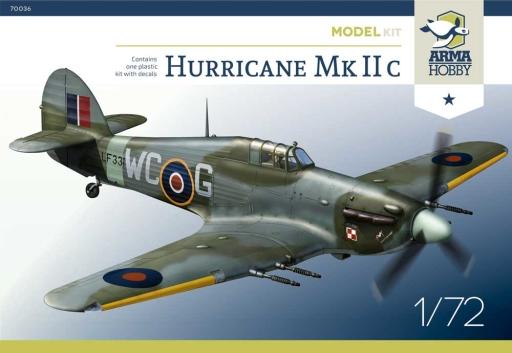 Arma Hobby 1/72 Hurricane Mk IIc Model Kit