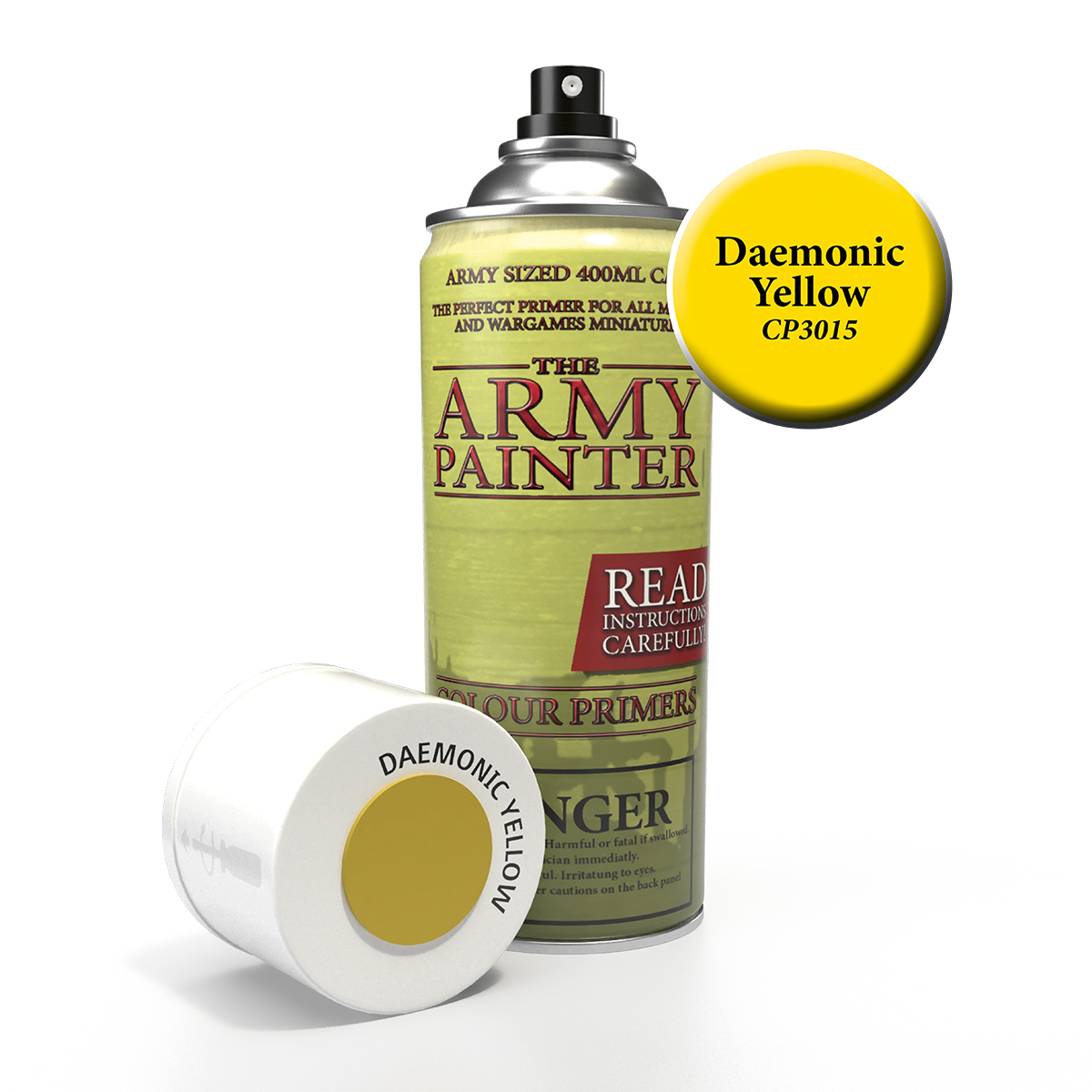 Army Painter Colour Primer - Daemonic Yellow