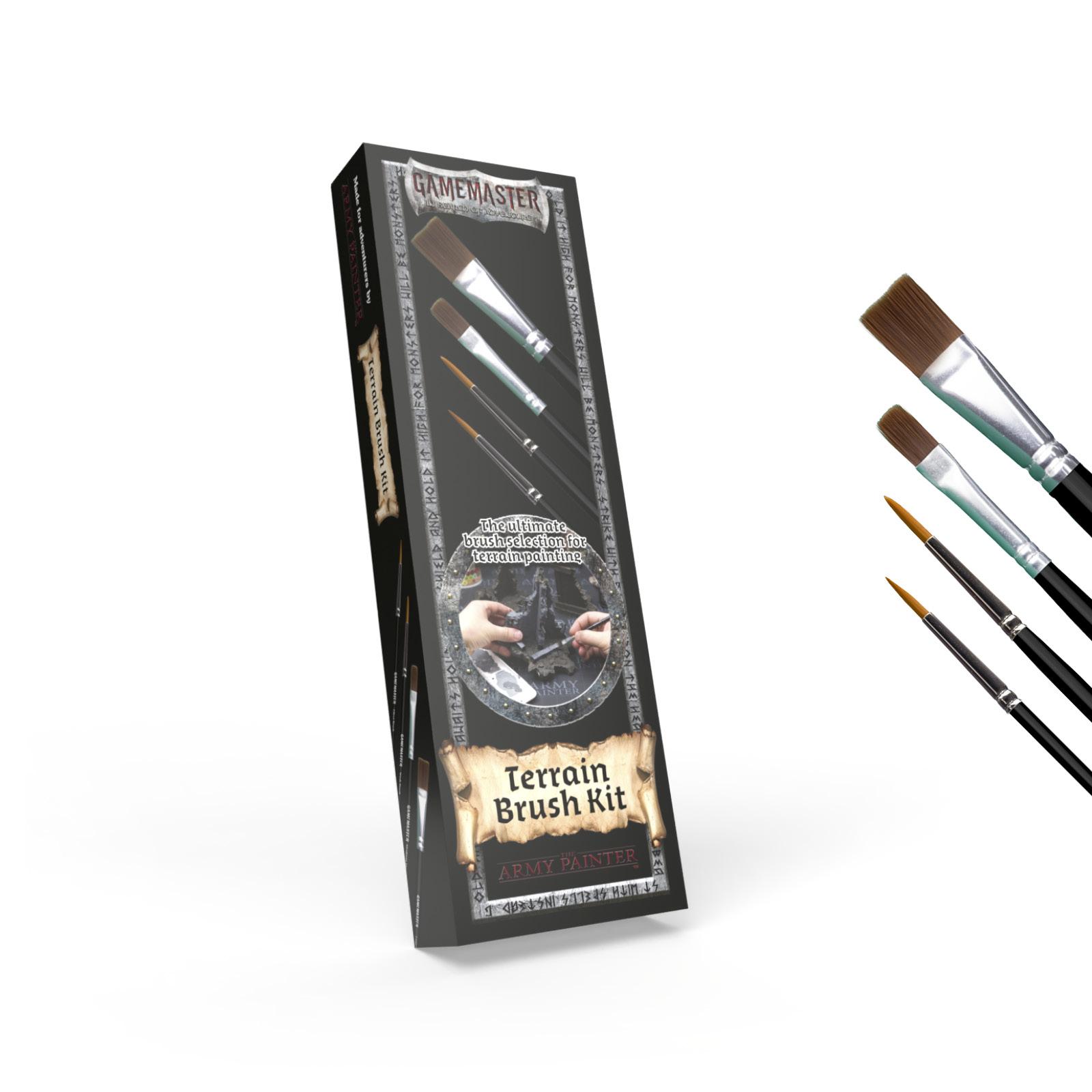 GAMEMASTER Terrain Brush Kit, 4 Brushes