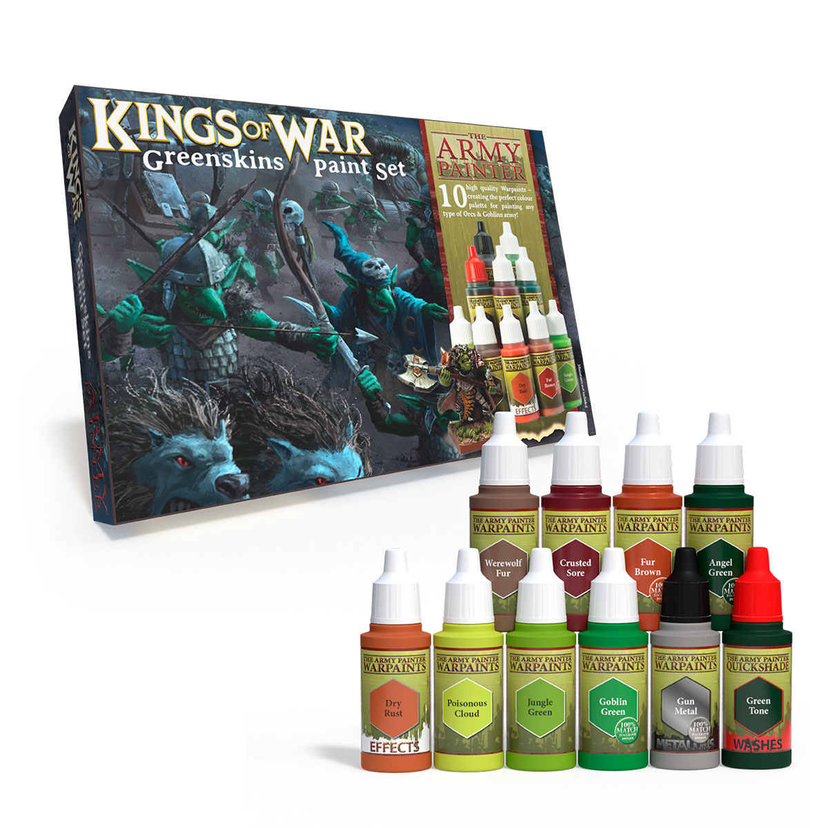 Army Painter Warpaints Kings of War Greenskins paint set