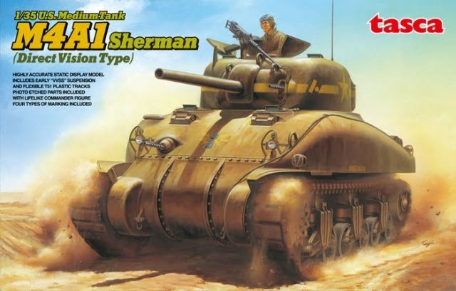 Asuka 1/35 M4A1 Sherman Direct Vision Type WWII US Medium Tank