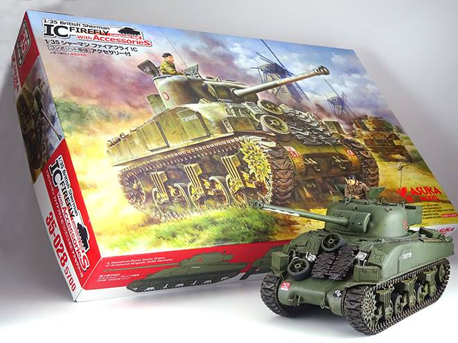 Asuka 1/35 British Sherman IC FIREFLY composite hull with Accessores
