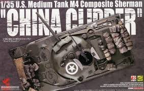 "Asuka 1/35 M4 Composite Sherman ""China Clipper"" US Army Medium Tank"