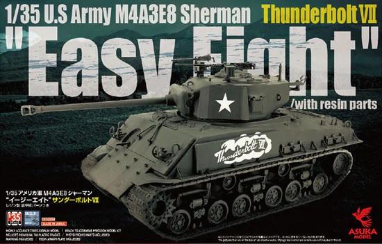 Asuka 1/35 M4A3E8 Sherman Easy Eight Thunderbolt VII w/ resin armor plate