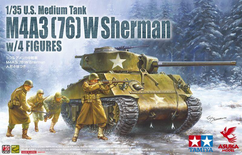 Asuka 1/35 M4A3(76)W Sherman w/ Figures