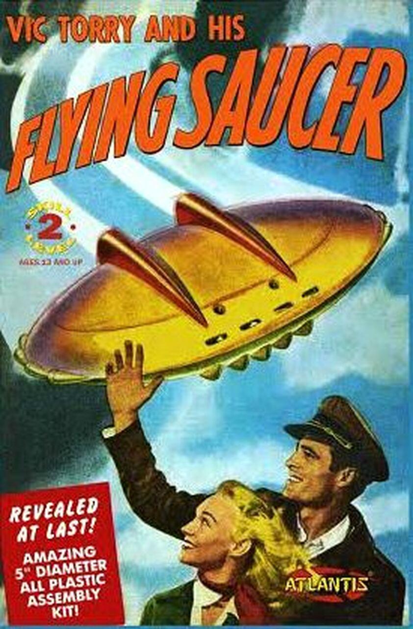 Atlantis Vic Torry's Flying Saucer Comic Plastic Model Kit