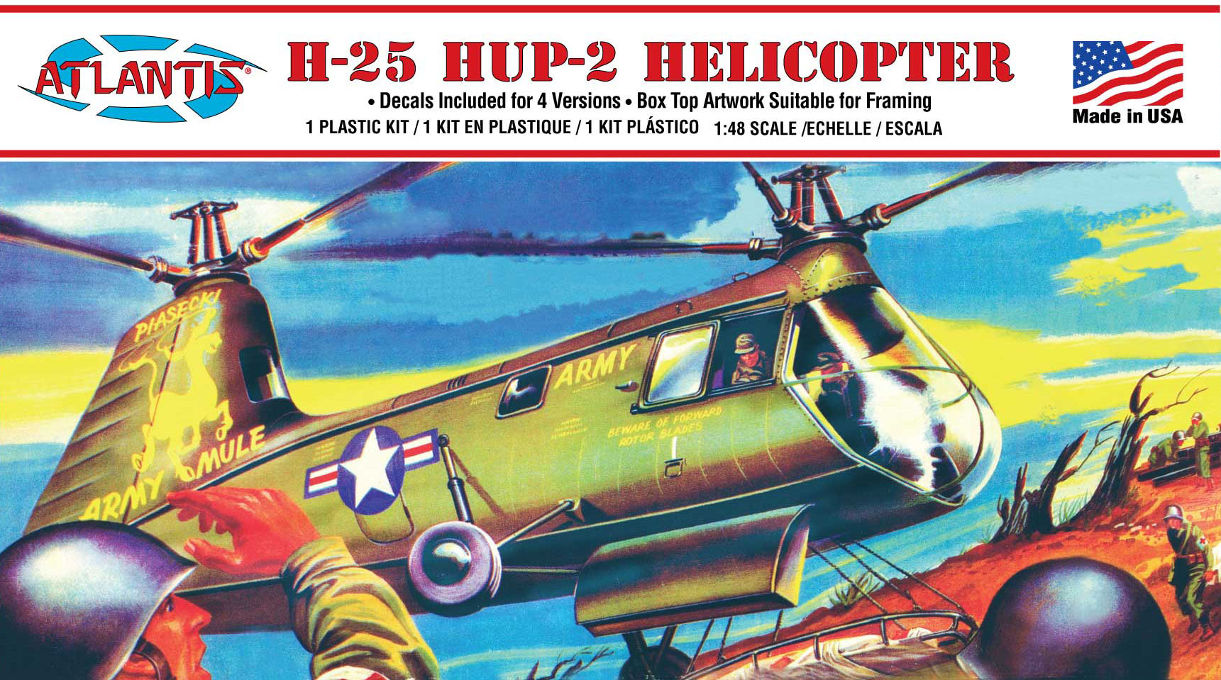 Atlantis H-25 Army Mule HUP-2 Helicopter 1/48