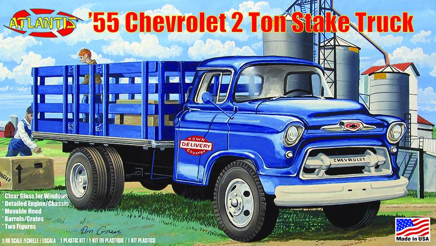 Atlantis 1/48 1955 Chevy 2 Ton Stake Truck