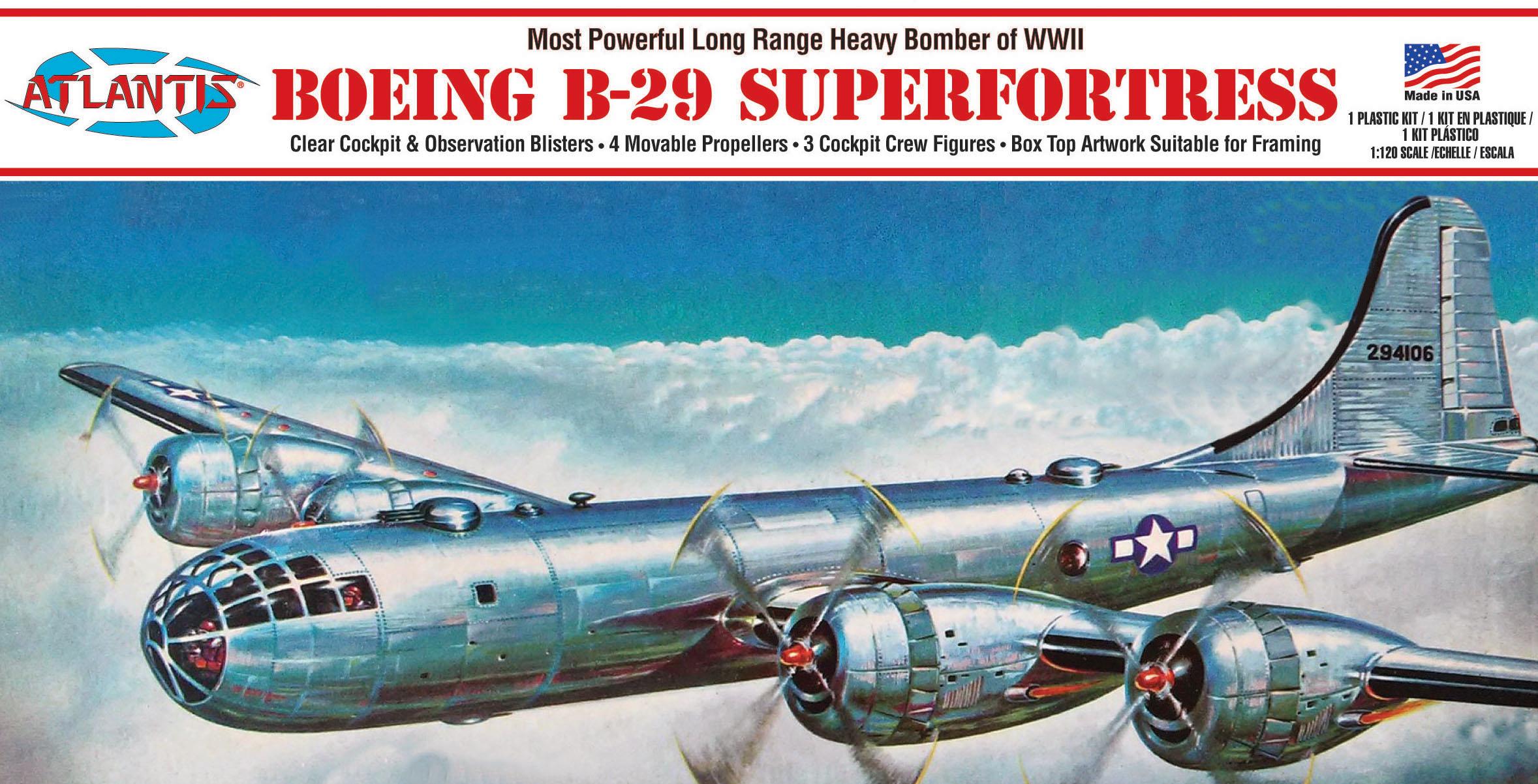 Atlantis 1/120 B-29 Superfortress Bomber