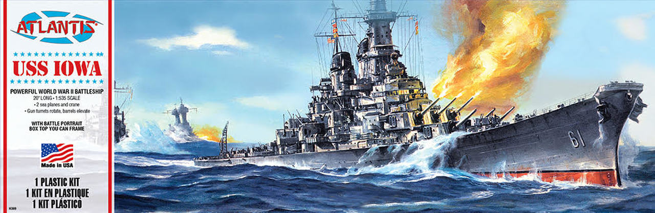 Atlantis USS Iowa Battleship 1/535
