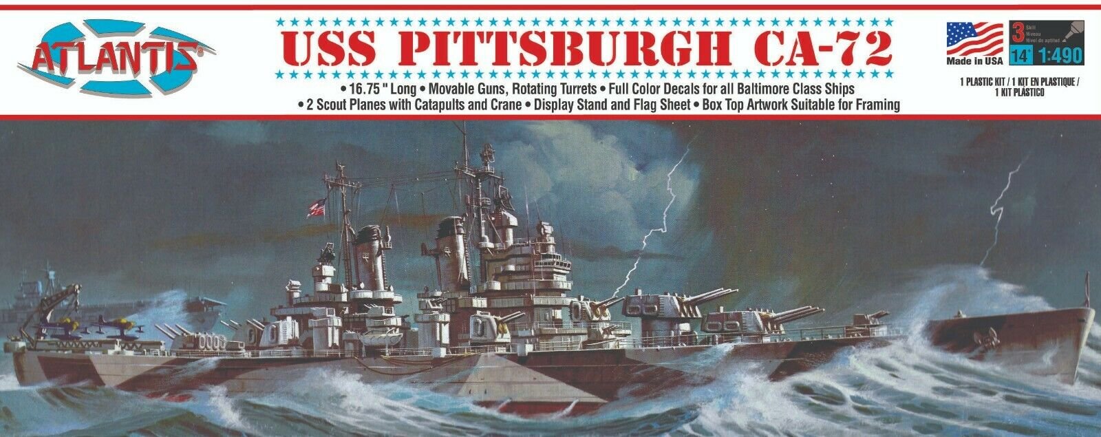 Atlantis USS Pittsburgh Heavy Cruiser